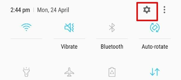 android 7 settings button