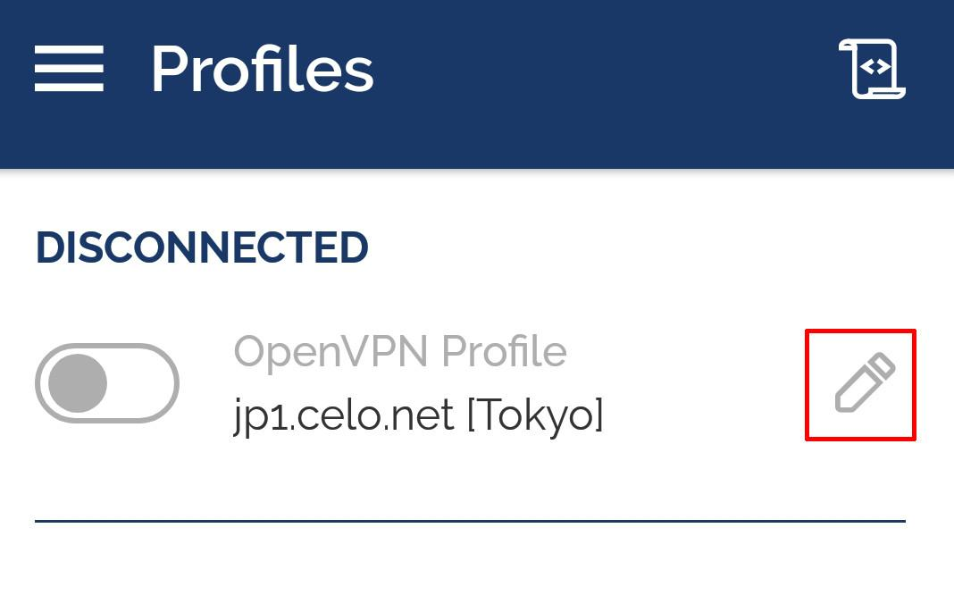 android openvpn connect edit connection