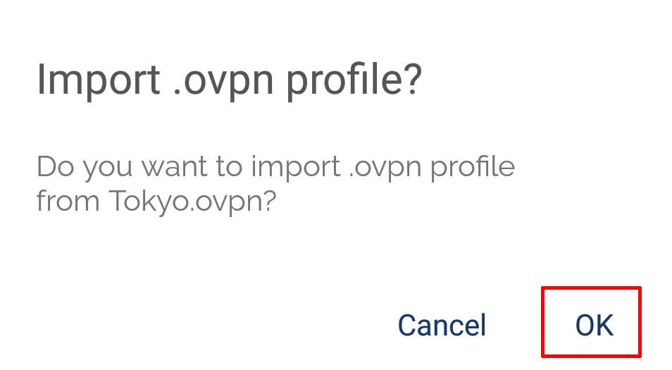 android openvpn import