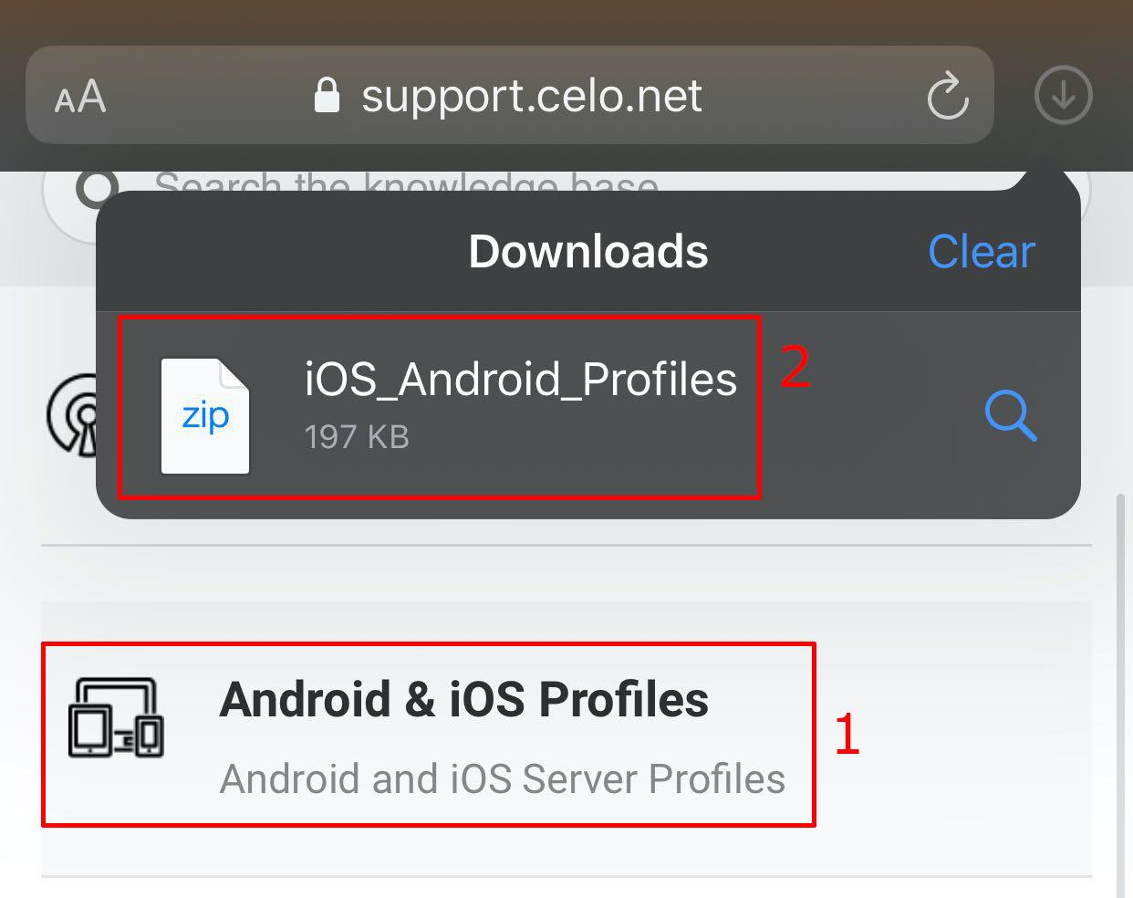 ios openvpn connect profiles download
