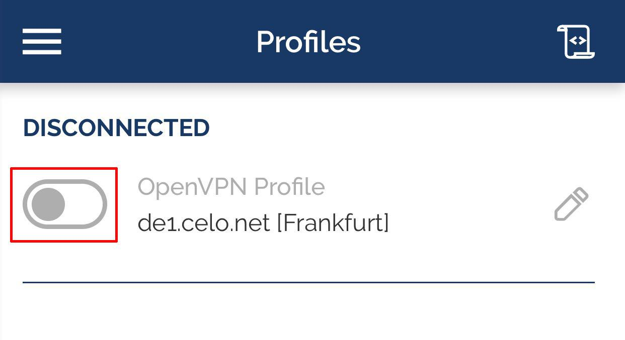 ios openvpn connect toggle