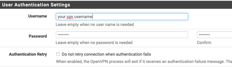 pfsense openvpn client user