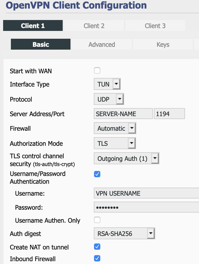 tomato shibby router openvpn basic