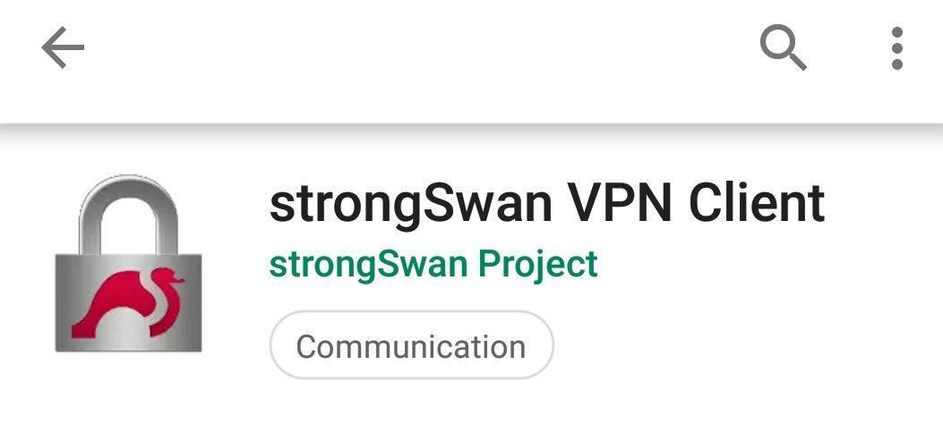 celo strongswan vpn app install