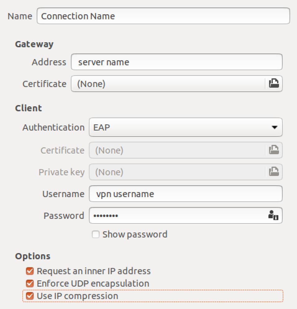 ubuntu ikev2 vpn connection details
