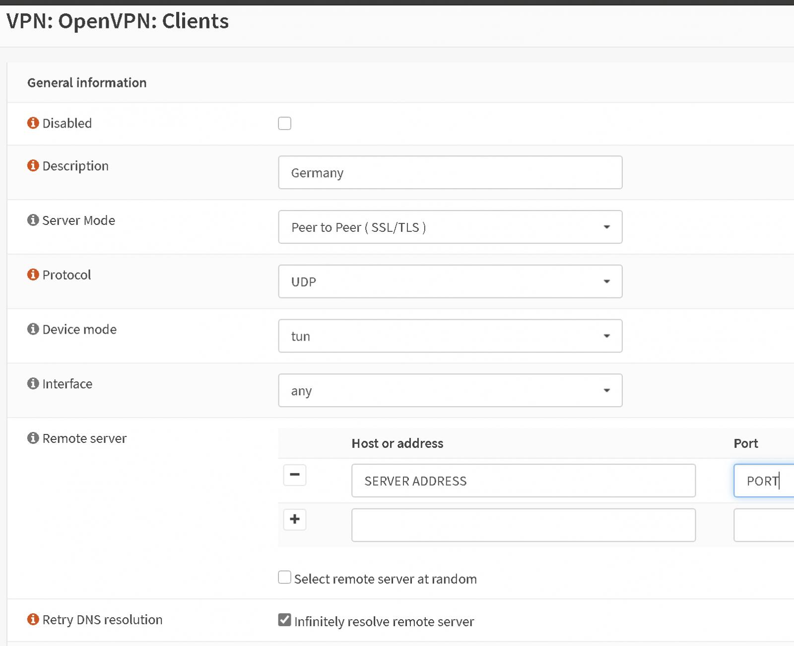 opnsense openvpn client setup